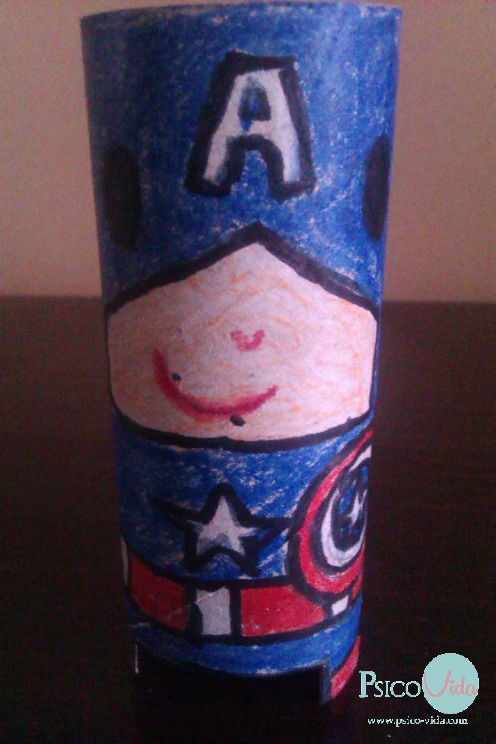 Portalápices Capitán América